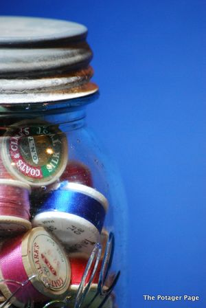 Threads in Mason Jar